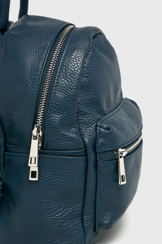 Answear - Kožený ruksak tmavomodrá