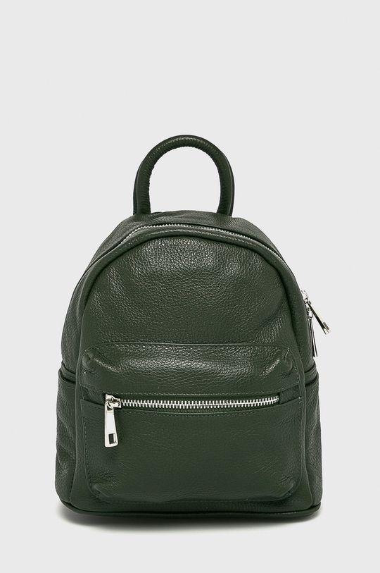 zelená Answear - Kožený ruksak Dámsky
