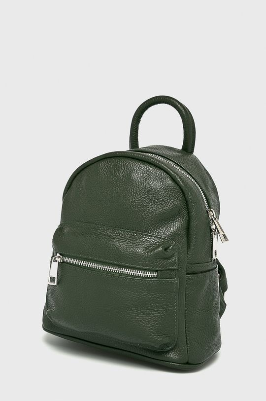 Answear - Kožený ruksak zelená