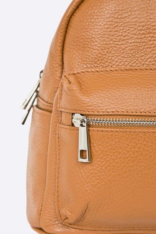 złoty brąz Answear Lab - Plecak skórzany