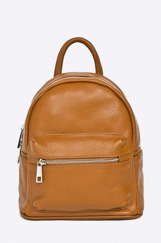 brązowy Answear Lab - Plecak skórzany Damski