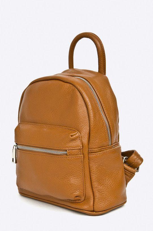 Answear Lab - Plecak skórzany brązowy