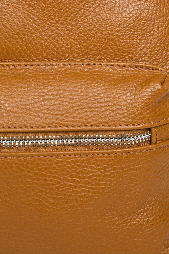 brązowy Answear Lab - Plecak skórzany