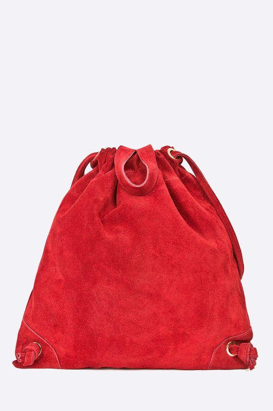 červená Answear - Kožený ruksak Dámsky