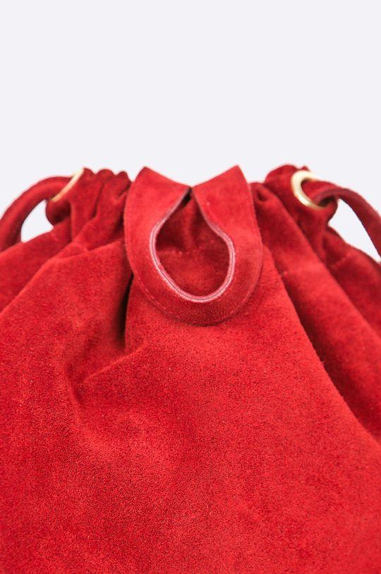 červená Answear - Kožený ruksak
