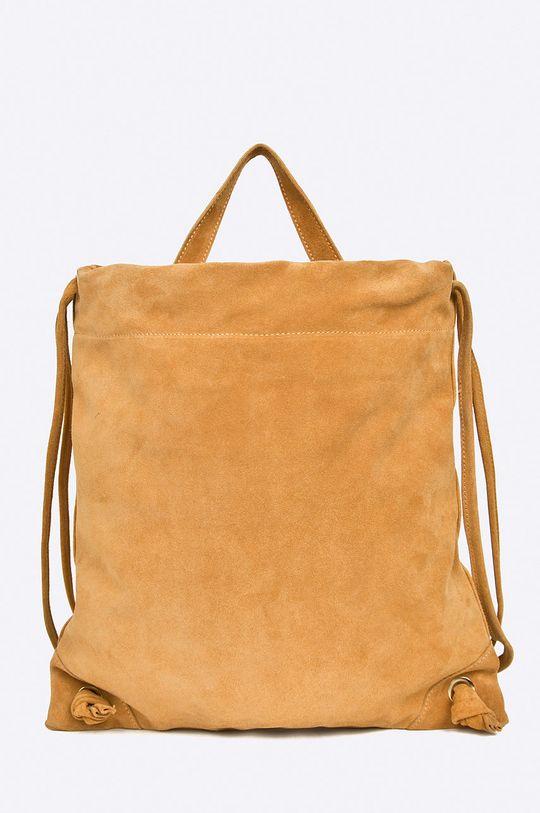 hnedá Answear - Kožený ruksak Dámsky