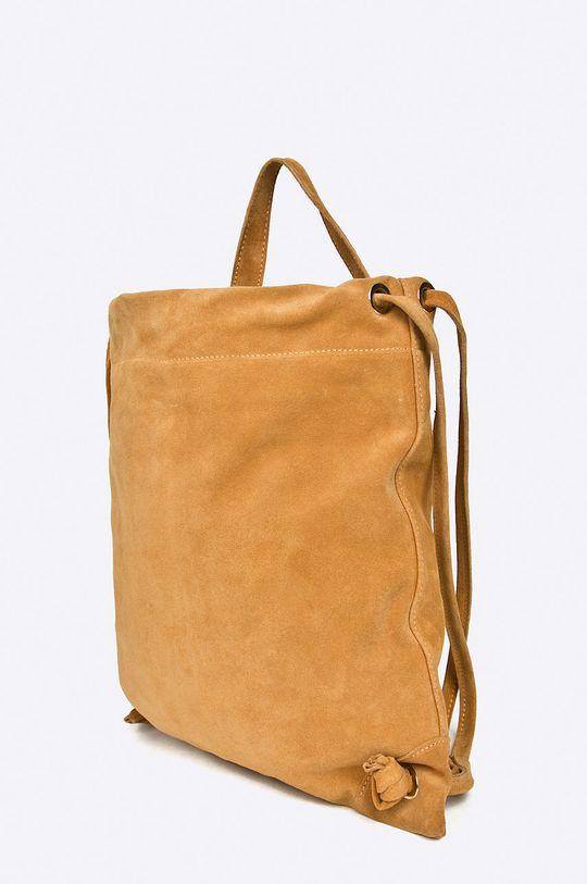 Answear - Kožený ruksak hnedá