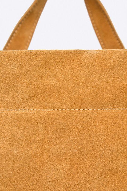 hnedá Answear - Kožený ruksak