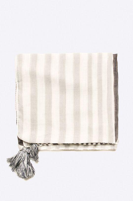 Answear - Šál Stripes Vibes sivá