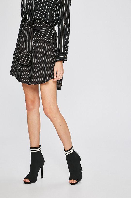 čierna Answear - Sukňa Stripes Vibes Dámsky
