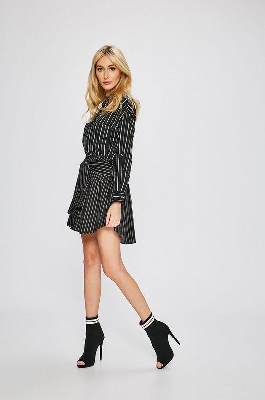 Answear - Sukňa Stripes Vibes čierna