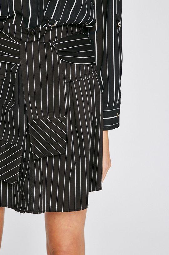 čierna Answear - Sukňa Stripes Vibes