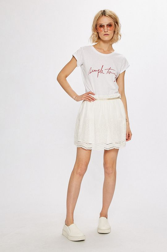 Answear - Sukňa Stripes Vibes biela