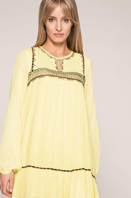 žltá Answear - Šaty Wild Nature