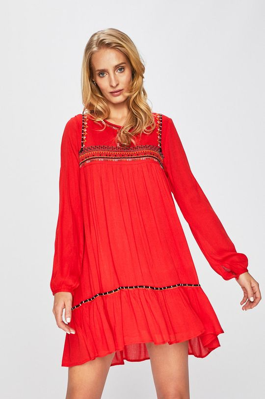 červená Answear - Šaty Wild Nature Dámsky