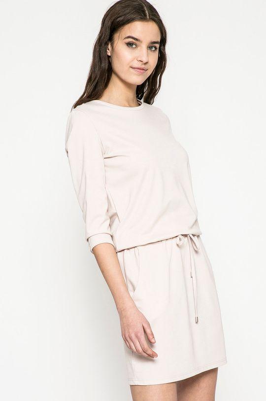 pastelová ružová Answear - Šaty Dámsky