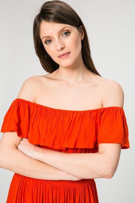 červená Answear - Šaty Petal