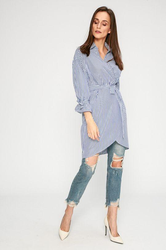 Answear - Šaty Stripes Vibes modrá