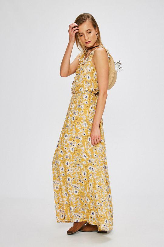 žltá Answear - Šaty Dámsky