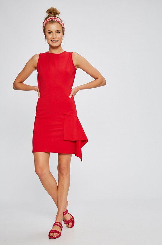 červená Answear - Šaty Stripes Vibes Dámsky