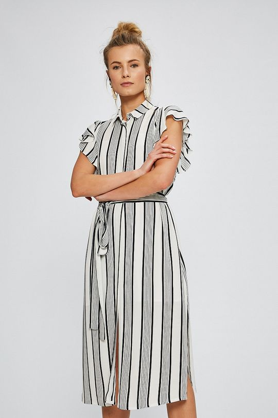 biela Answear - Šaty Stripes Vibes