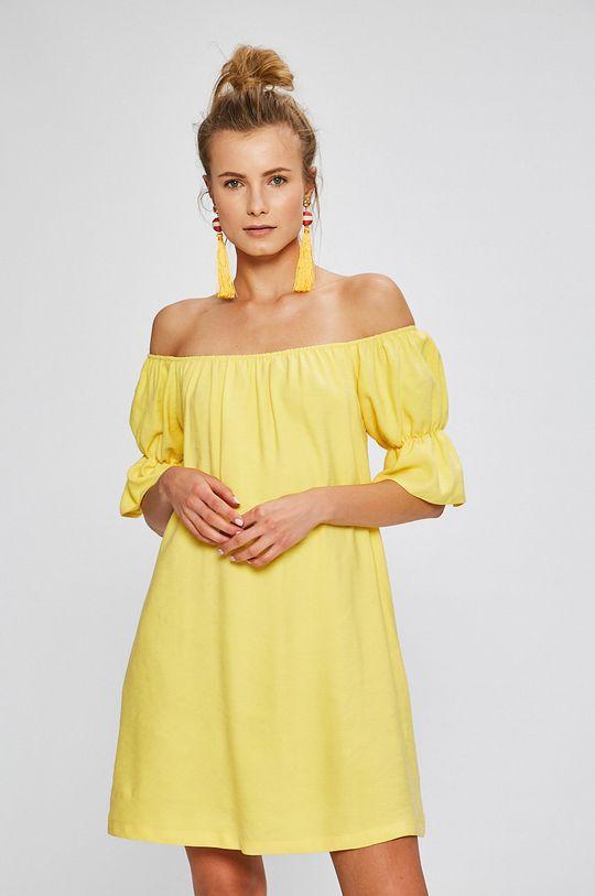 Answear - Šaty Stripes Vibes žltá