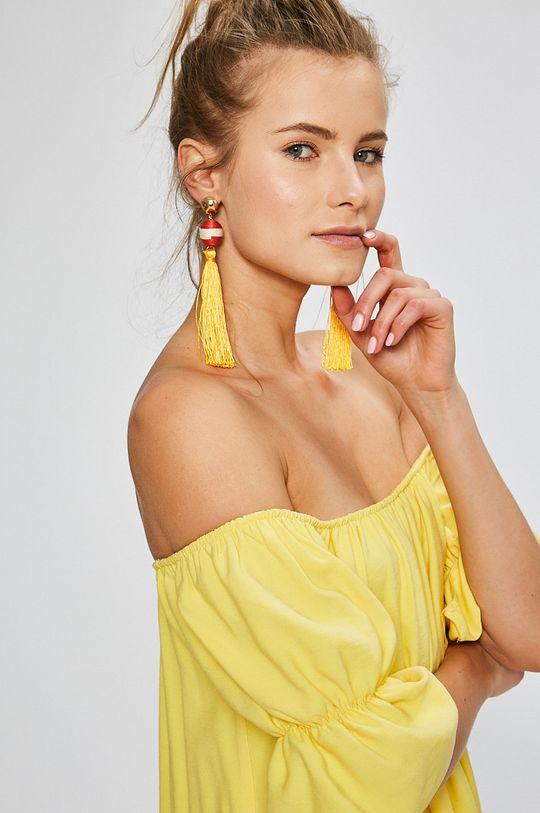 žltá Answear - Šaty Stripes Vibes
