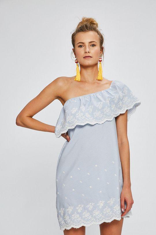 modrá Answear - Šaty Stripes Vibes Dámsky