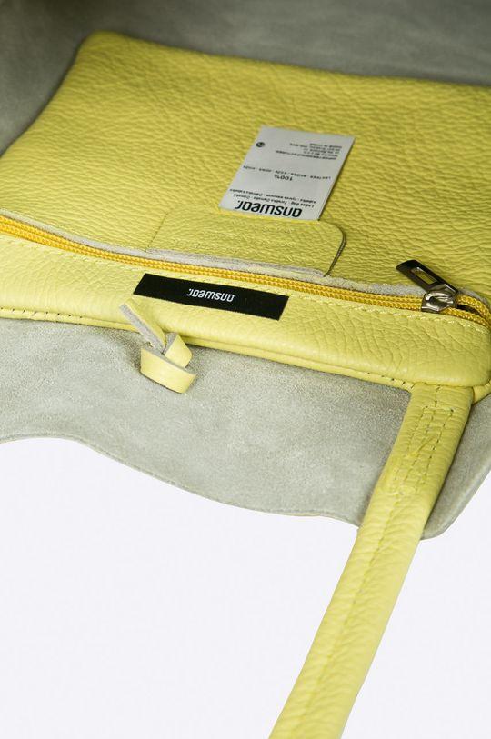 żółty Answear Lab - Torebka skórzana