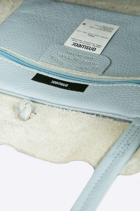 jasny niebieski Answear Lab - Torebka skórzana