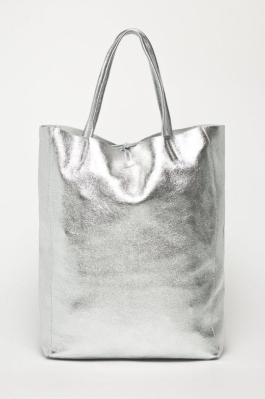 srebrny Answear Lab - Torebka skórzana Damski