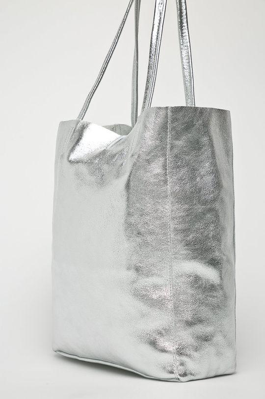 Answear Lab - Torebka skórzana srebrny