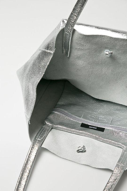 srebrny Answear Lab - Torebka skórzana