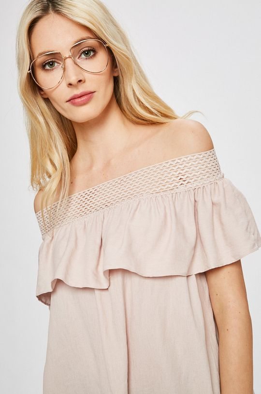 pastelowy różowy Answear Lab - Top Damski