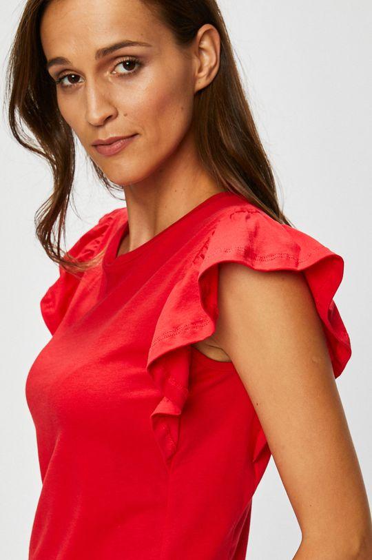 červená Answear - Top Stripes Vibes