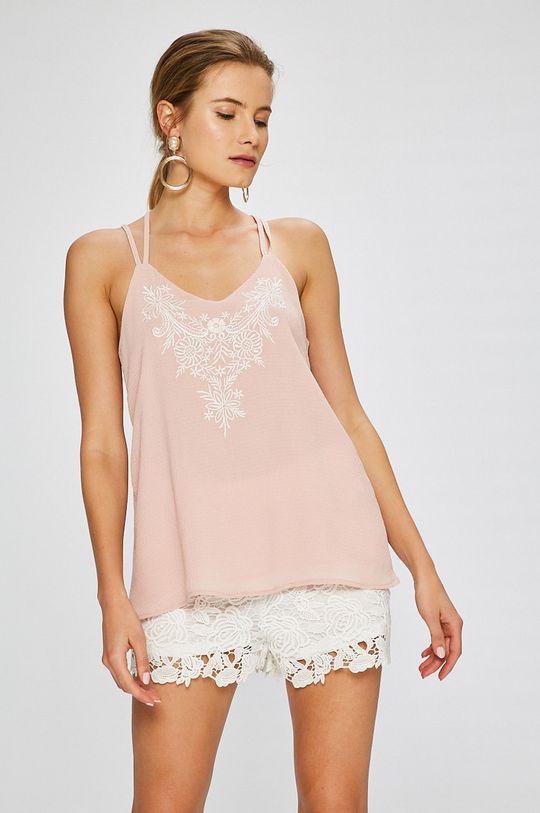 ružová Answear - Top Stripes Vibes Dámsky