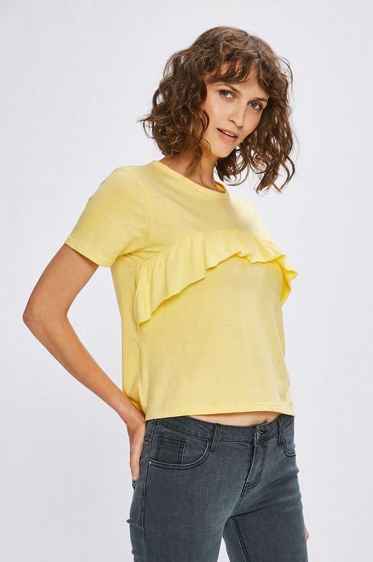 žltá Answear - Top Stripes Vibes Dámsky