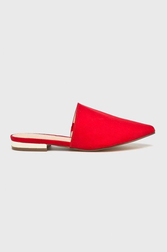 czerwony Answear Lab - Klapki Damski