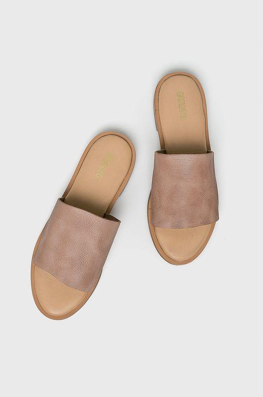 Answear - Papucs cipő 6673.  Szár: természetes bőr Belseje: szintetikus anyag Talp: szintetikus anyag