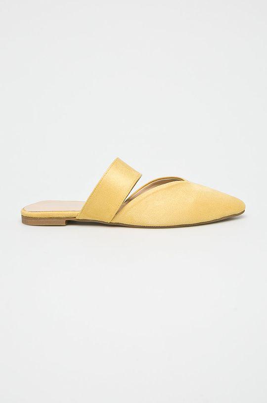 żółty Answear Lab - Klapki Damski