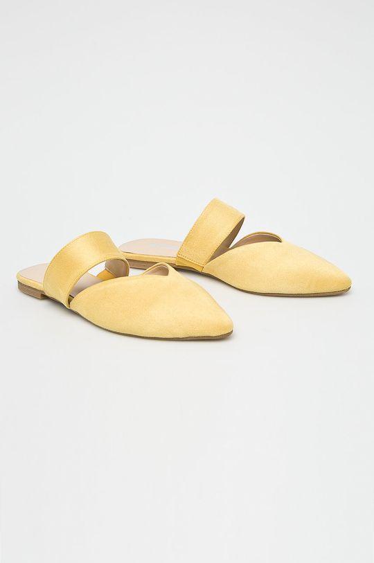 Answear Lab - Klapki żółty