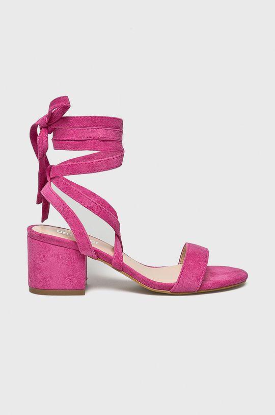 pastelowy różowy Answear Lab - Sandały Damski