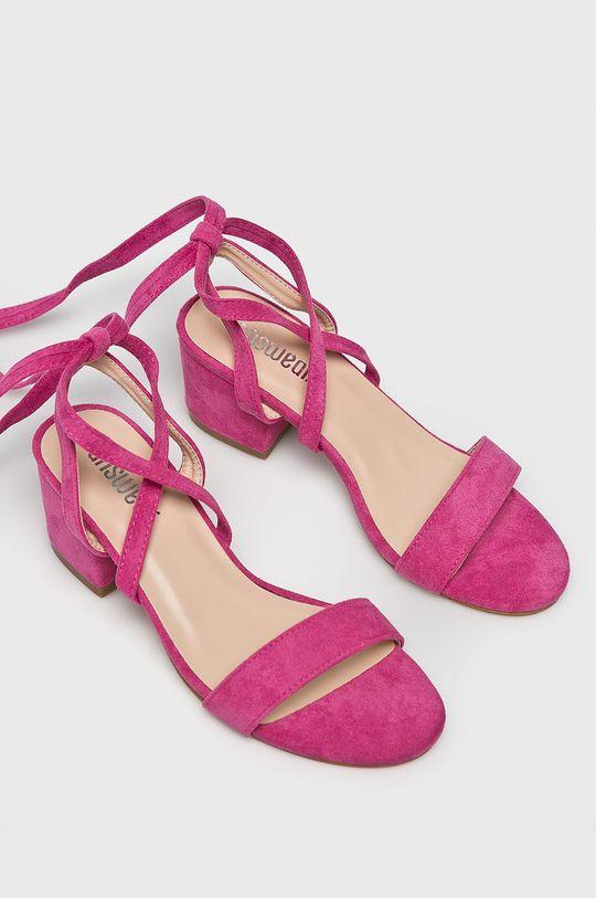 Answear Lab - Sandały pastelowy różowy