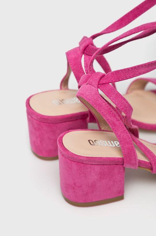 pastelowy różowy Answear Lab - Sandały