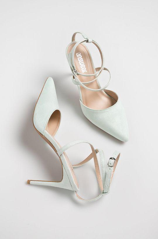 Answear - Pantofi cu toc verde deschis