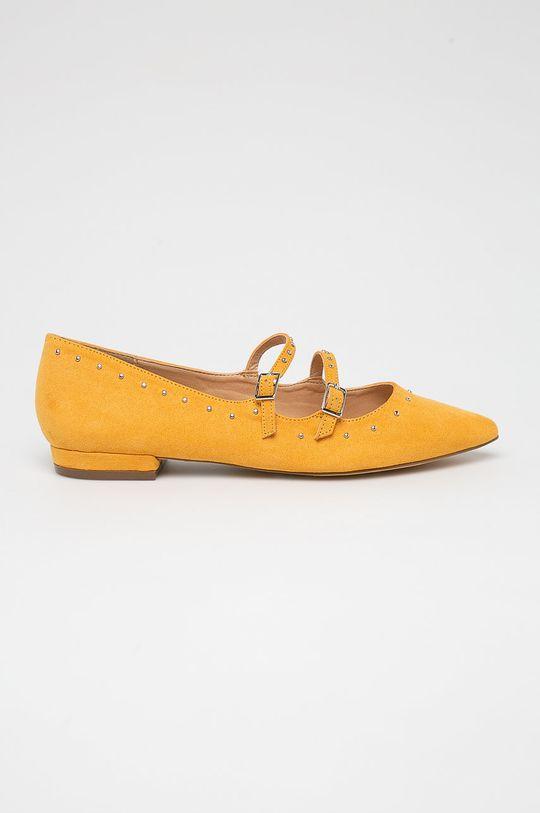 żółty Answear Lab - Baleriny Damski