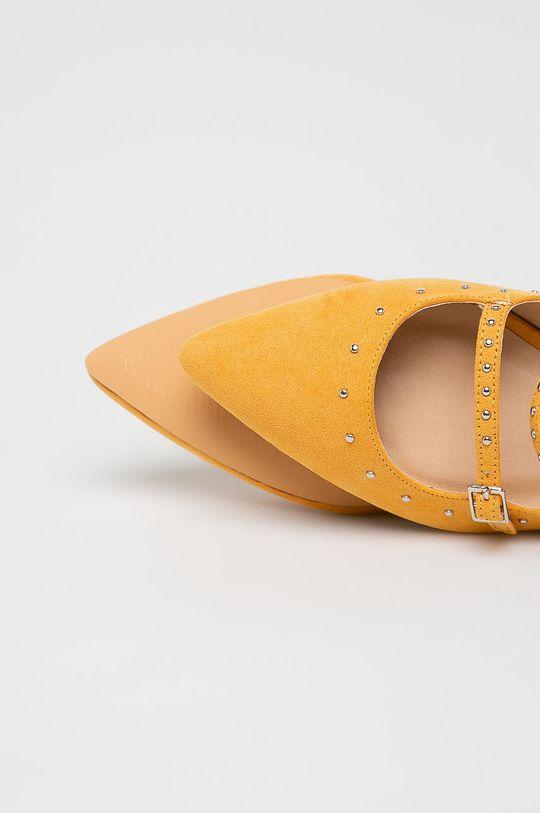 żółty Answear Lab - Baleriny