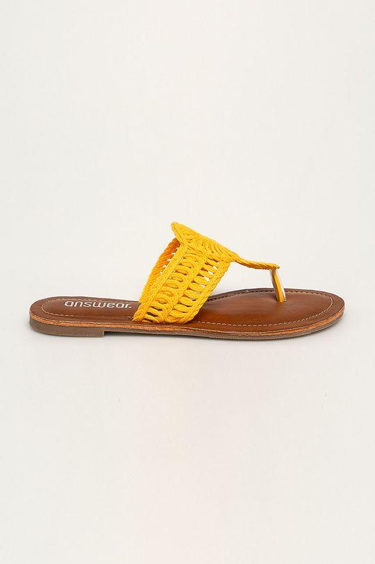 żółty Answear - Japonki Damski