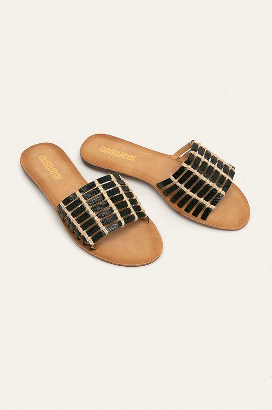 Answear - Šľapky čierna