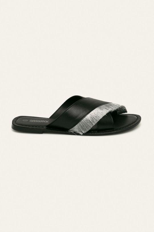 negru Answear - Slapi de piele De femei